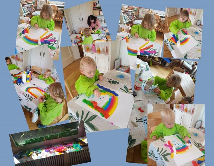 Farbe, Farbe, Farbe, immer wieder neue Ideen werden von uns aus dem Ärmel geschüttelt