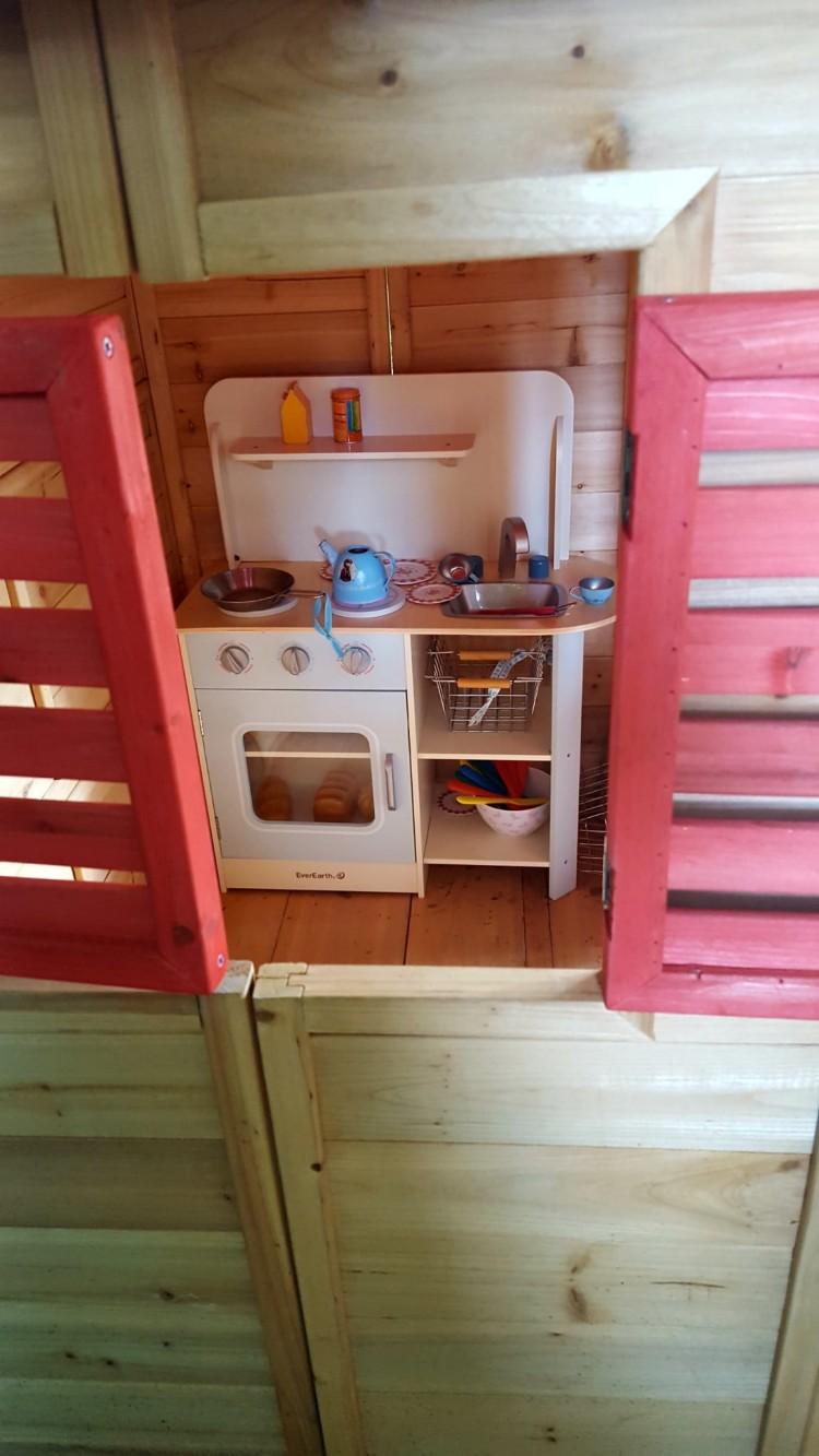unsere neue Küche im Gartenhaus :O)